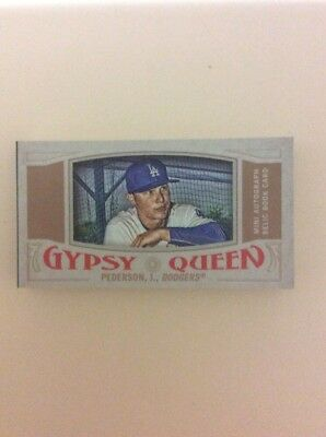 2016 topps Gypsy queen patch auto book of Joc Pederson, dodgers. numbered 10/20