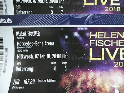 2 x helene fischer tickets berlin mercedes benz arena eur 210 00 picclick de. Black Bedroom Furniture Sets. Home Design Ideas
