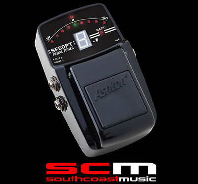 Guitar Tuner Stomp Box Pedal Ashton Sf50Pt Accurate Chromatic Bright Lcd Display