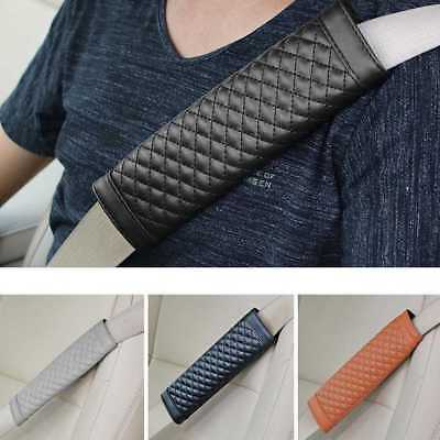 2x Car Seat Belt Strap Soft PU Leather Safety Shoulder Cushion Pads Cover