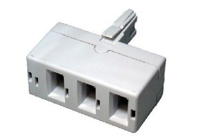 rhinocables BT treble telephone Phone socket 3 way Adapter Splitter