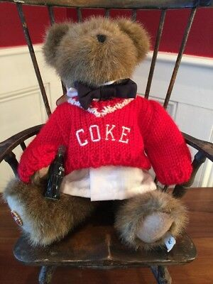 """Coca Cola Jointed Teddy Bear By Boyds Bears David 10"""""""