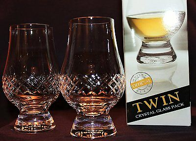 The Glencairn Diamond Cut Twin Pack Scotch Malt Whisky Tasting Glasses