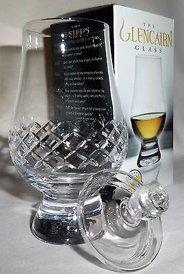 The Glencairn Diamond Cut Scotch Whisky Tasting Glass with Ginger Jar Top