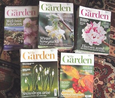 Job Lot - 42 RHS 'The Garden' magazines  2012- 2016 issues. Cash on Collect S18