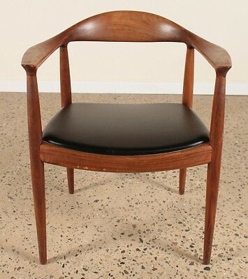 "HANS WEGNER TEAK AND LEATHER ""THE CHAIR"" C.1960 Lot 1"