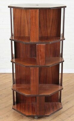 ITALIAN 8 SIDED ROSEWOOD OPEN BOOKCASE Lot 216
