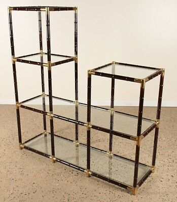 WILLIAM HAINES STYLE FAUX BAMBOO BRONZE BOOKCASE Lot 250
