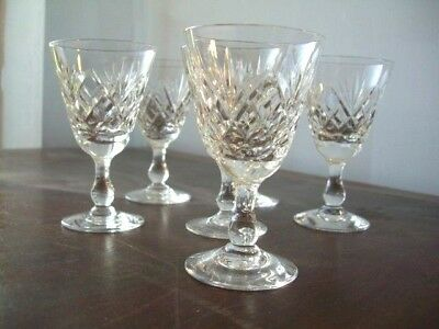 Royal Brierley Braemar set of 6 Sherry/Port/Liqueuer Glass  10cm high