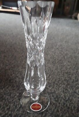Royal Brierly Crystal Verona Bud Vase Signed Original Box