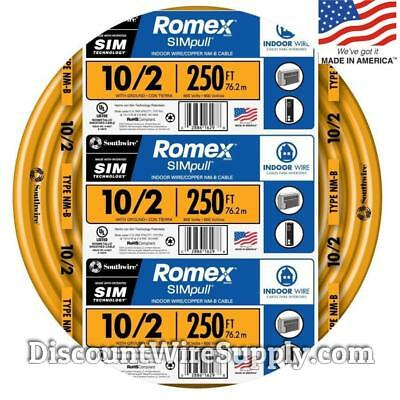 Romex 250 ft 102 nm b indoor residential building ground wire romex 250 102 gauge simpull nm b indoor copper electrical wire 10 publicscrutiny Choice Image