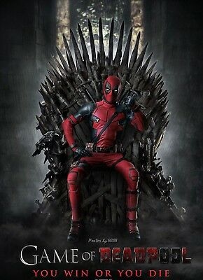DEADPOOL GAME OF THRONES Marvel DC POSTER PRINT DPGT01 A4  A3 BUY 2 GET 3RD FREE