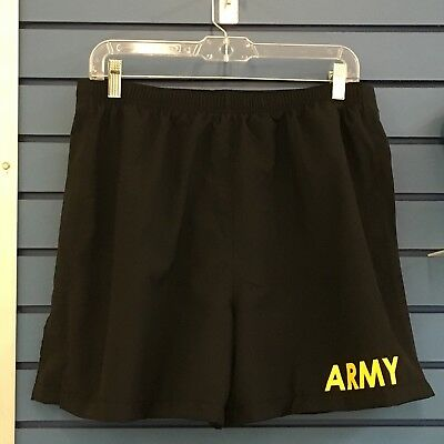 PT Army Physical Fitness Uniform Trunks Shorts, Black & Yellow