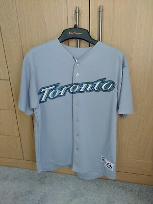 Toronto Blue Jays 2004 Grey Replica Jersey with 'Wells 10' print - Size L