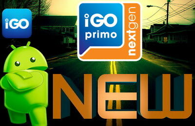 IGO PRIMO NEXTGEN ANDROID NAVIGATIONS SOFTWARE CAR+TRUCK+CAMPER Cards 2018