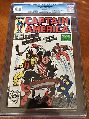 Captain America #337 CGC 9.8 white pages