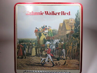 Johnnie Walker Red Scotch Whiskey Collectible Tin Box Barringer Wallis & Manners