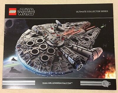 LEGO Exclusive 75192 UCS Millennium Falcon Brochure Booklet Ultimate Collector