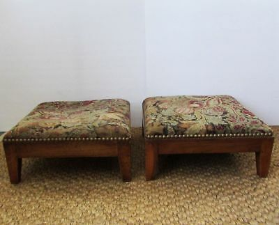 Antique 19th C Matched Pair of Swedish Biedermeier Benches Footstools Foot Rests
