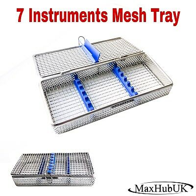 MaxHubUK - Dental Surgical Instrument Autoclave Mesh Cassette Tray Perforated