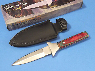 "Slim Boot Knife DH7822 color wood full tang dagger 6 1/2"" overall PA7822 NEW!"