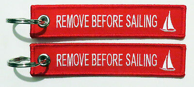 Keyring Remove Before Sailing like remove before flight keychain Captain Skipper