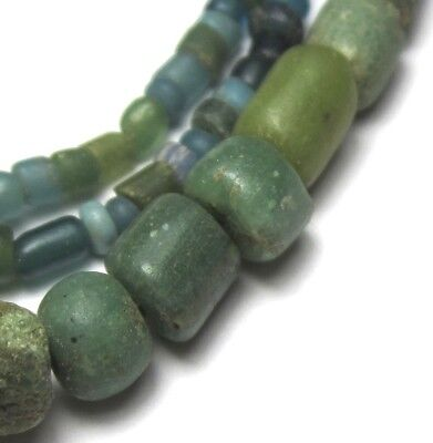 "20 1/2"" Strand Rare Graduated Tiny/small Ancient Mixed D'jenne Mali Glass Beads"