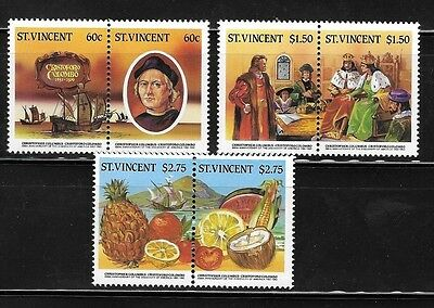 St Vincent 1986 Columbus Scott 933-8 MNH A43