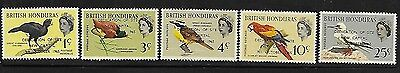 British Honduras 1966 Birds Overprinted New Capital MNH A266