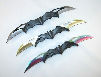 """Batman Tactical Assisted Folding Double Blade Bat Knife Stainless 12"""" OAL"""