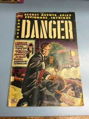 Danger #11 1953-Comic Media-Don Heck- Golden Age- Marvel DC Superman