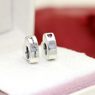 *Authentic Pandora (PAIR) Two Hearts Spacers 796559CZR Love Gift