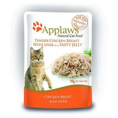 NEW Applaws Cat Pouch Chicken with Liver in Jelly - 70gm