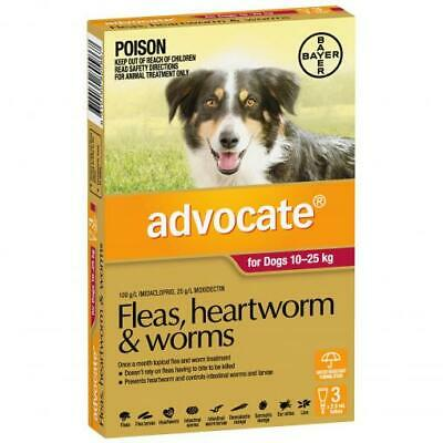 NEW Advocate - Flea and Worm Treatment for Dogs 10kg - 25kg