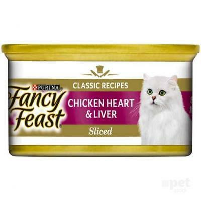NEW Fancy Feast White Label Chicken Heart and Liver - 85gm