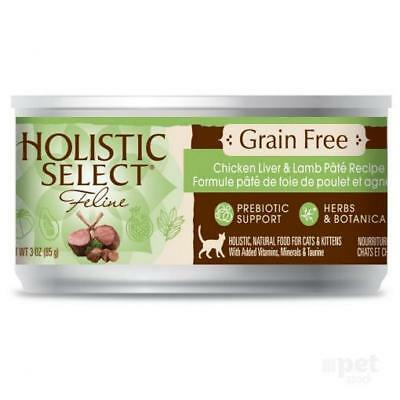 NEW Holistic Select - Grain Free Chicken Liver and Lamb - Canned Cat Food