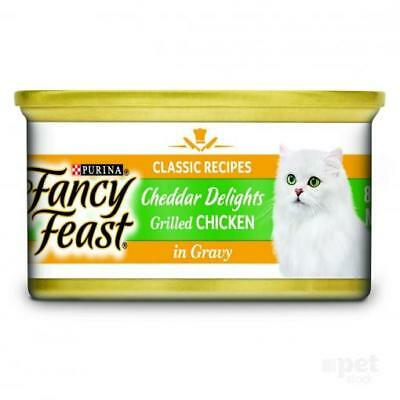 NEW Fancy Feast - Grilled Chicken and Cheddar Cheese Feast in Gravy - Canned Cat