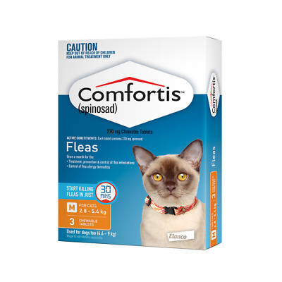 NEW Comfortis Orange - For Cats 2.8-5.4kg - 3 pack