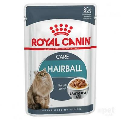 NEW Royal Canin Cat Food Pouch Hairball Gravy - 85g