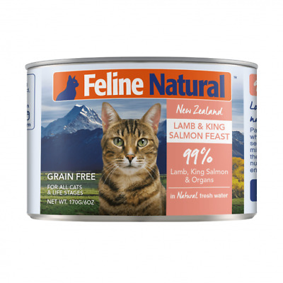 NEW Feline Natural Grain Free Canned Cat Food - Lamb and Salmon