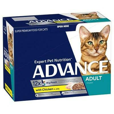 NEW ADVANCE 1+ Years Adult Cat with Chicken & Turkey in Jelly