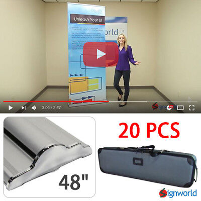 "Retractable Roll Up Banner Stand Height Adjustable Display Sign HD 48"" 20 PCS"