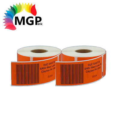 2 Compatible for Dymo/Seiko 99014 Orange Label 54mm x 101mm Labelwriter450 Turbo