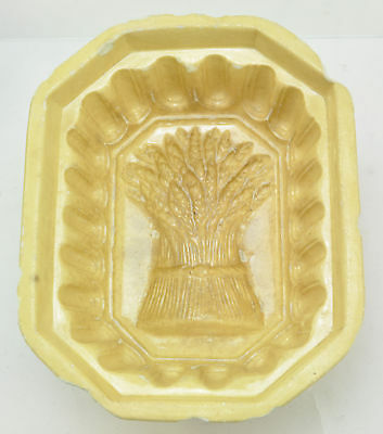 Early Antique Yellow Ware Sheaf of Wheat Food Mold 19th Century
