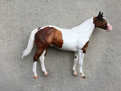 """Breyer Peter Stone Ideal Stock Horse ISH Make My Day """"Clint"""" Bay Pinto SIGNED SR"""