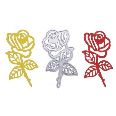 Rose Metal Cutting Dies Stencil Scrapbook Paper Card Craft Embossing DIY Die-Cut