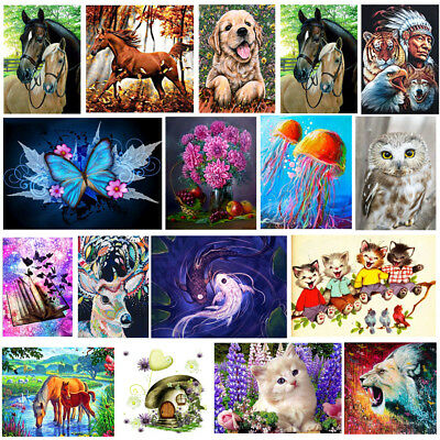 5D Diamond Painting Animal Embroidery DIY Craft Cross Stitch Kit Home Wall Decor