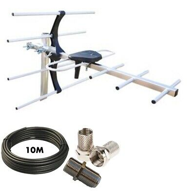 Digital TV Aerial 7 Element HD Freeview outdoor loft  antenna 4G with 10m cable