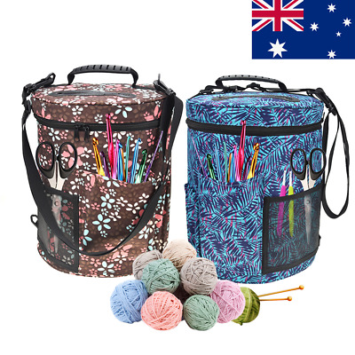 Woolen Yarn Large Storage Bag Knitting Crochet Ball Holder Organizer Bag Basket