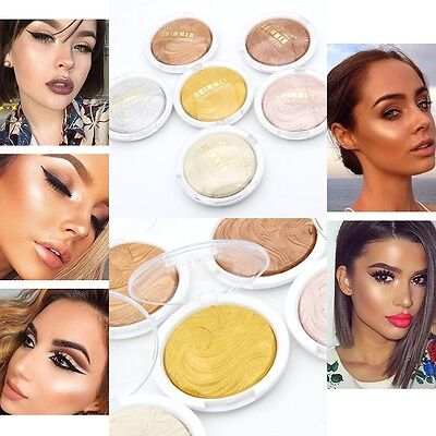 6Colors Shimmer Contour Powder Highlighter & Bronzer High Light Cosmetic.US